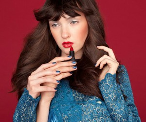 blue, makeup, and lips image