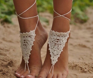 beach, lace, and nike image