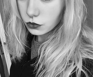 blonde, septum, and total black image