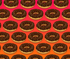 donuts and background image
