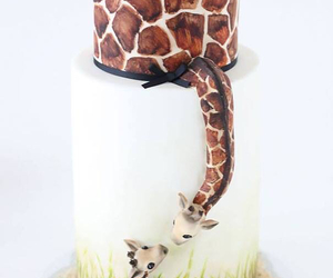 cake, giraffe, and animal image