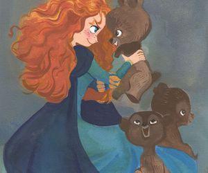 merida, brave, and bear image