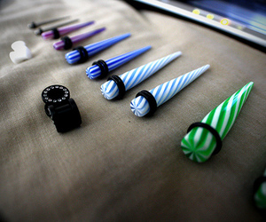 photography, Plugs, and blue image