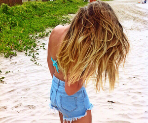 beach, blond, and california image