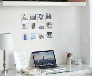 room, desk, and interior image
