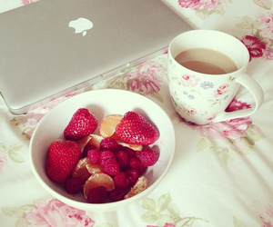 strawberry, apple, and food image