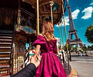 paris, couple, and travel image