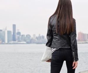 brunette and jeans image