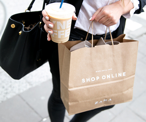 fashion, coffee, and shopping image