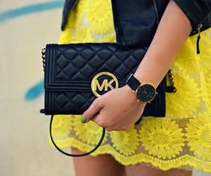 fashion, Michael Kors, and yellow image