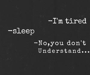 tired, sleep, and sad image