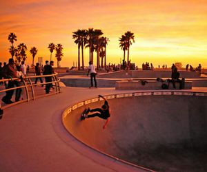 cool, sunset, and skate image