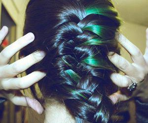 hair, girl, and green image