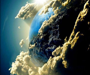 earth, space, and clouds image