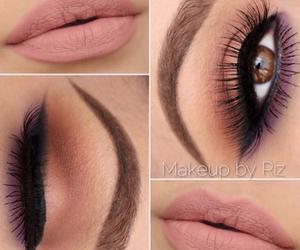 eye make up, girl, and lips image