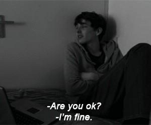 sad, fine, and i'm fine image