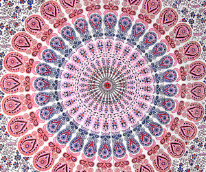 indian bedspread, hippie tapestry, and indian wall hanging image