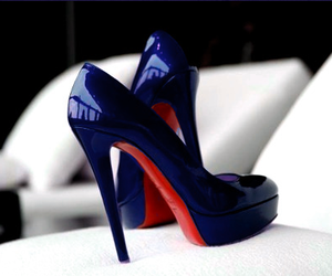 beautiful, shoes, and blue image
