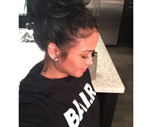 hair, cassie, and bun image