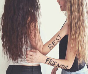 best friends, friends, and hair image