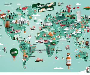 green, illustration, and world image