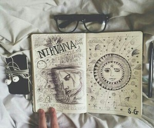 nirvana, grunge, and art image