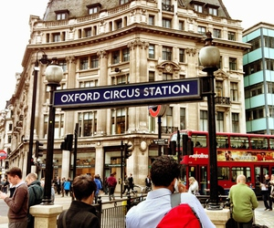 london, underground, and oxford circus image