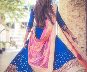 blue, indian, and style image