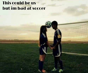 couple, soccer, and love image