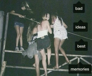 memories, bad, and friends image