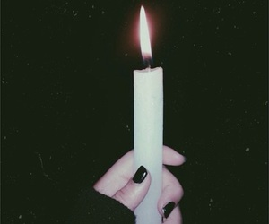 black, candle, and grunge image