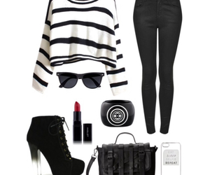 black and white, chanel, and fashion image