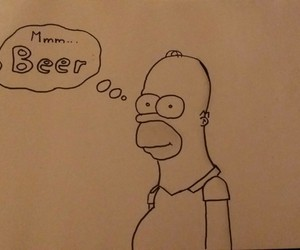 drawing, simpsons, and zeichnung image