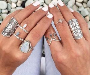 rings, nails, and white image