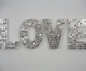 glitter, typography, and love image