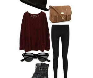 outfit, Polyvore, and school outfit image
