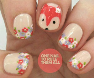 nails, fox, and flowers image