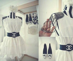 chanel, dress, and shoes image