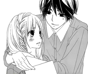 black &white, girl, and manga image