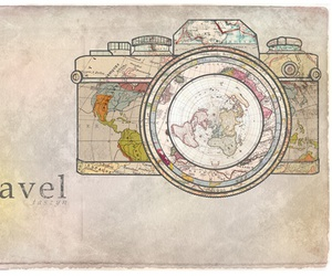 travel, camera, and world image