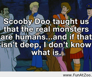 scooby doo, monster, and quote image