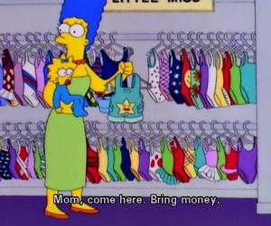 funny, simpsons, and money image