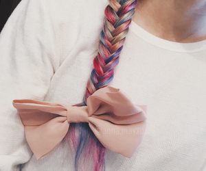 braid, colorful, and dyed hair image