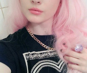 cutie, light pink hair, and heart image