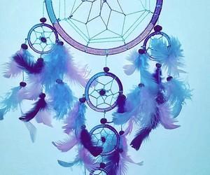 blue, Dream, and dreamcatcher image