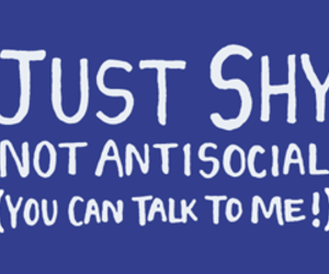 antisocial and shy image