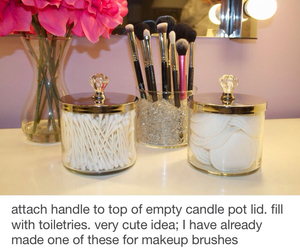 candle, diy, and holder image