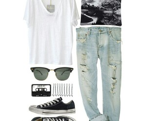 black, Polyvore, and converse image