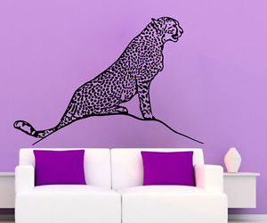 living room decor, wall decals, and wild animals image