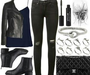 jacket, leather, and outfit image